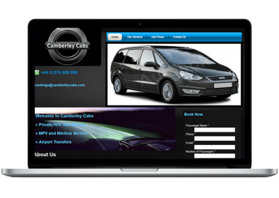 Minicab website design